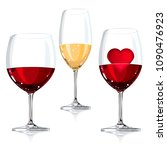 vector illustration wine glass  ... | Shutterstock .eps vector #1090476923