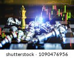 stock market data on digital...   Shutterstock . vector #1090476956