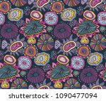 beautiful seamless pattern with ... | Shutterstock .eps vector #1090477094