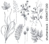 vector collection of hand drawn ... | Shutterstock .eps vector #1090477100