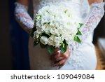close up of wedding bouquet | Shutterstock . vector #109049084