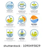 icon set  natural water. the... | Shutterstock .eps vector #1090495829