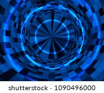 abstract techno background in... | Shutterstock .eps vector #1090496000