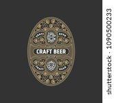 flourishes oval beer label... | Shutterstock .eps vector #1090500233