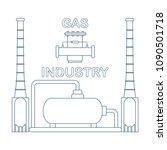 gas processing plant. gas...   Shutterstock .eps vector #1090501718