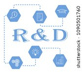 research and development... | Shutterstock .eps vector #1090501760