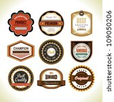 set of badge design | Shutterstock .eps vector #109050206