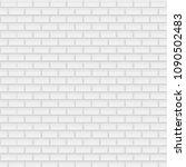 white brick background  vector... | Shutterstock .eps vector #1090502483