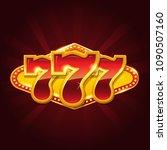 set of 777 gold casino jackpot... | Shutterstock .eps vector #1090507160