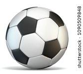 football  soccer ball 3d...   Shutterstock . vector #1090509848