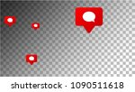 social media marketing. comment ... | Shutterstock .eps vector #1090511618
