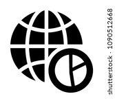 global graph vector glyphs icon | Shutterstock .eps vector #1090512668