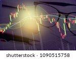 charts of financial instruments ...   Shutterstock . vector #1090515758