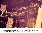 charts of financial instruments ... | Shutterstock . vector #1090515779