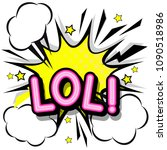lol  retro popart style... | Shutterstock .eps vector #1090518986