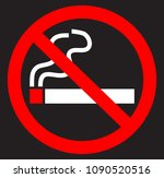no smoking cigarette icon with... | Shutterstock .eps vector #1090520516