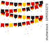 germany celebration bunting...   Shutterstock .eps vector #1090523273