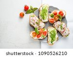 different sandwiches with... | Shutterstock . vector #1090526210