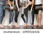 group of young sporty people... | Shutterstock . vector #1090526426