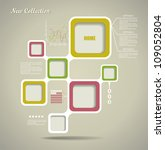 retro style website template ... | Shutterstock .eps vector #109052804