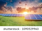 solar panel  photovoltaic ... | Shutterstock . vector #1090529963