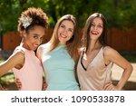 street fashion. close up three... | Shutterstock . vector #1090533878