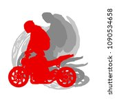 motorcycle freestyle driver... | Shutterstock .eps vector #1090534658