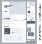 one page website design... | Shutterstock .eps vector #1090538330