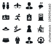 set of simple vector isolated... | Shutterstock .eps vector #1090541660
