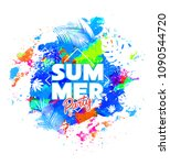 summer party background on... | Shutterstock .eps vector #1090544720