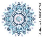 indian medallion ornament... | Shutterstock .eps vector #1090545248