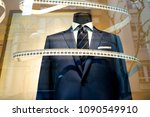 tailor's shop window made to... | Shutterstock . vector #1090549910