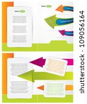 brochure design with colorful... | Shutterstock .eps vector #109056164