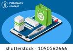 isometric online pharmacy... | Shutterstock .eps vector #1090562666