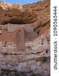 southwestern cliff dwelling | Shutterstock . vector #1090565444
