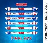 soccer 2018 championship... | Shutterstock .eps vector #1090577963