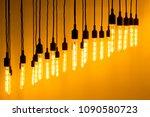 decorative light bulb against... | Shutterstock . vector #1090580723