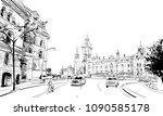 ottawa. canada. hand drawn.... | Shutterstock .eps vector #1090585178