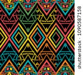 abstract zigzag pattern for... | Shutterstock .eps vector #1090587158