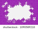 purple background puzzle.... | Shutterstock .eps vector #1090589210