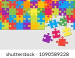colorful background puzzle.... | Shutterstock .eps vector #1090589228
