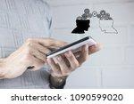 idea concept. knowledge... | Shutterstock . vector #1090599020