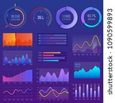 3d chart and graphic. diagram... | Shutterstock .eps vector #1090599893
