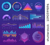 3d chart and graphic. diagram... | Shutterstock .eps vector #1090599896