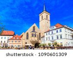 Small photo of ERFURT, GERMANY - CIRCA MARCH, 2018: The Saint Giles church alias Aegidienkirche of Erfurt, Thuringia, Germany