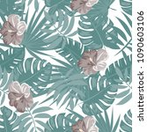 tropical seamless pattern with... | Shutterstock .eps vector #1090603106