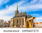 st. bartholomew's cathedral in... | Shutterstock . vector #1090607273