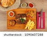 delicious beef steak meat on... | Shutterstock . vector #1090607288