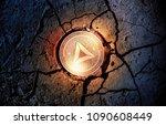 shiny golden basic attention... | Shutterstock . vector #1090608449