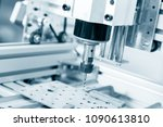 cnc milling machine working ... | Shutterstock . vector #1090613810